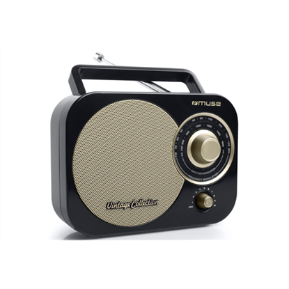 Attēls no Muse Portable radio M-055RB Black/Gold, AUX in