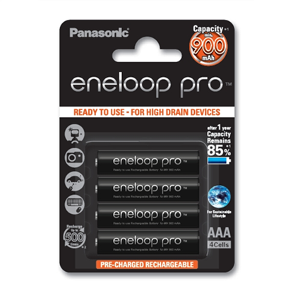 Attēls no Panasonic eneloop AAA/HR03, 900 mAh, Rechargeable Batteries Ni-MH, 4 pc(s)
