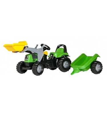 Attēls no Bērnu traktors ar pedāļiem rollyKid Deutz ar kausu un piekabi (2,5-5 gadiem) 023196 Vācija