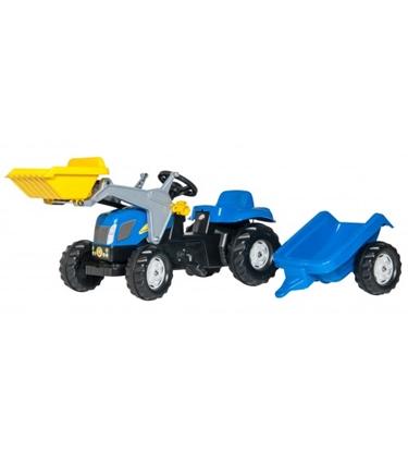 Attēls no Bērnu traktors ar pedāļiem rollyKid NH T7040 ar kausu un piekabi (2,5-5 gadiem) 023929 Vācija