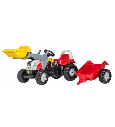 Изображение Bērnu traktors ar pedāļiem rollyKid Steyr ar kausu un piekabi (2,5-5 gadiem) 023936 Vācija