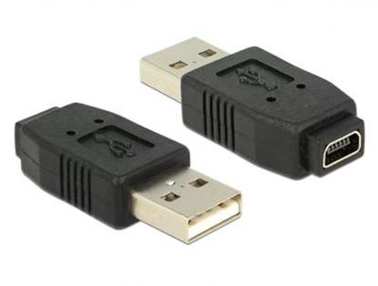 Изображение Delock Adapter USB 2.0 A male  mini USB B 5 pin female