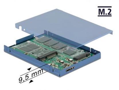 Picture of 2.5 Konverter USB 3.1 Micro-B Buchse  M.2 + mSATA mit Gehäuse 9,5 mm