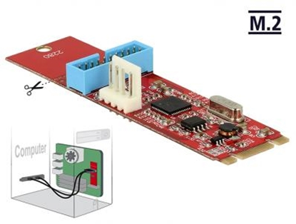 Изображение Converter M.2 Key B+M male  1 x USB 3.0 Pin Header