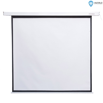 Attēls no 4World Electric mount projection screen, remote, 178x178 (1:1) Matt White