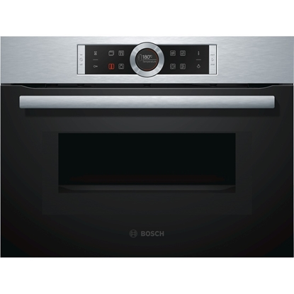 Attēls no Bosch Compact oven with microwave CMG633BS1 45 L, Stainless steel, Regular, Touch, Built-in oven, 1000 W