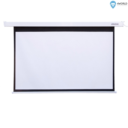 Attēls no 4World Electric mount projection screen, remote, 203x152 (4:3) Matt White