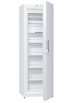 Picture of Gorenje Freezer FN6191DHW Upright, Height 185 cm, Total net capacity 243 L, A+, Freezer number of shelves/baskets 6, Display, White, No Frost system, Free standing