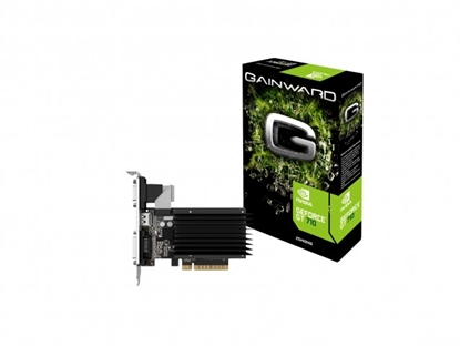 Attēls no Gainward GeForce GT 710, 2GB DDR3 (Bit), HDMI, DVI, HEAT SINK