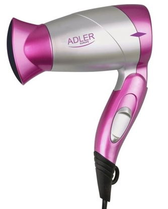 Изображение Adler Hair Dryer AD 223 pi 1300 W, Number of temperature settings 1, Pink/Silver