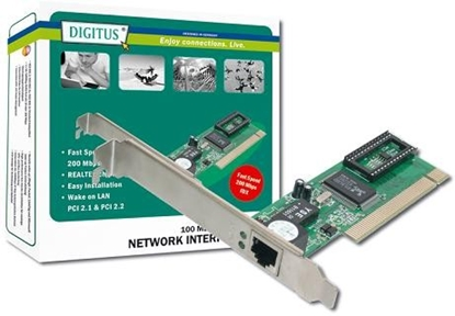 Picture of DIGITUS 10/100 Mbps Fast Ethernet PCI network card Realtek 8139D