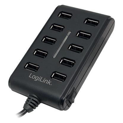 Picture of 10-Portowy HUB USB2.0 z wlacznikiem ON/OFF