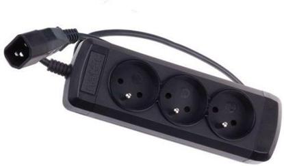 Attēls no Natec Power Strip 3 SOCKETS for UPS System (IEC CONNECTOR) 0.6m, black