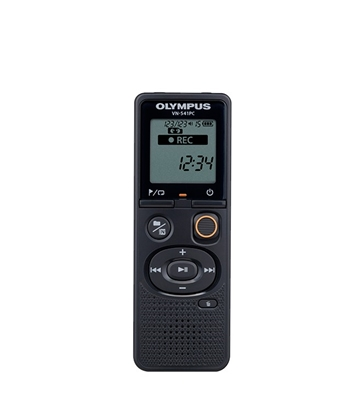 Attēls no Olympus Digital Voice Recorder VN-541PC  Black, WMA, Segment display 1.39',