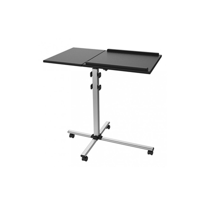 Изображение Techly Universal projector / notebook trolley with two adjustable shelves black