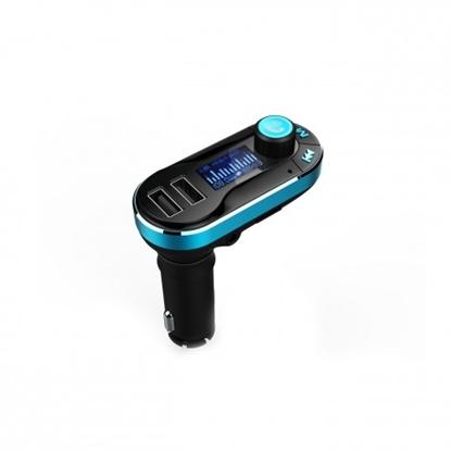"""Attēls no Transmiter FM samochodowy z funkcją BT ekran 1,4"""" pilot USB/SD  BT-10"""