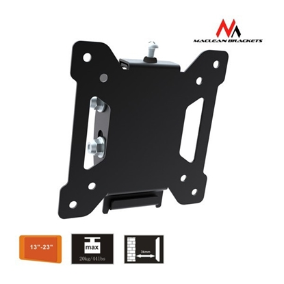 Attēls no Maclean MC-596 TV Wall Mount Bracket LCD LED Plasma 13'' - 27'' 20kg High Qualit