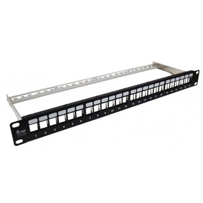 """Attēls no 19"""" Panel krosowy modularny, 1U, 24 porty, niewyposażony"""