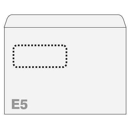 Attēls no BONG Aploksnes Postfix ar logu E5 RH 156x220mm, (3-125140)