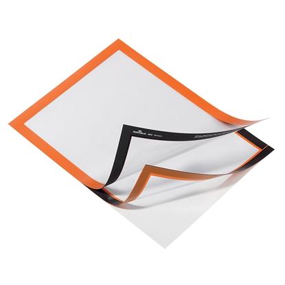 Изображение DURABLE Pašlīpoša kabata   DURAFRAME ar rāmi oranža krāsā, A4 formāts, 2 gab./iepak.