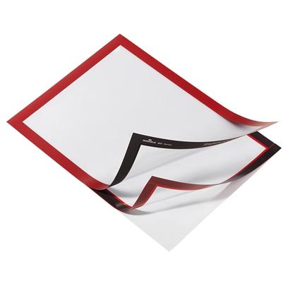 Изображение DURABLE Pašlīpoša kabata   DURAFRAME ar rāmi sarkana krāsā, A4 formāts, 2 gab./iepak.