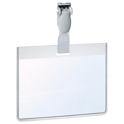 Picture of DURABLE Personas karte   ar plastmasas klipsi un izmēru 90x60 mm horizontāla, 25 gab./iepak.