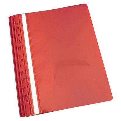 Attēls no PANTA PLAST Mape ātršuvējs iesienamais A4 formāts, sarkana, 10 gab./iepak.