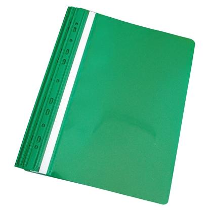 Attēls no PANTA PLAST Mape ātršuvējs iesienamais A4 formāts, zaļa, 10 gab./iepak.