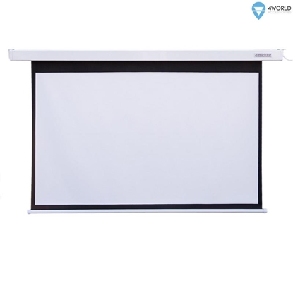 Attēls no 4World Electric mount projection screen, remote, 144x81 (16:9) Matt White