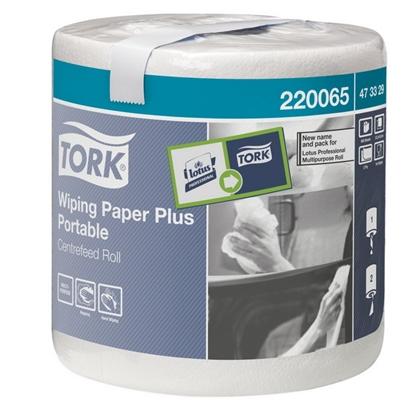 Attēls no SCA Papīra dvieļi TORK Plus Portable, 2 sl., 400 lapas rullī, 23.3 x 19.3 cm, 93 m, baltā krāsā