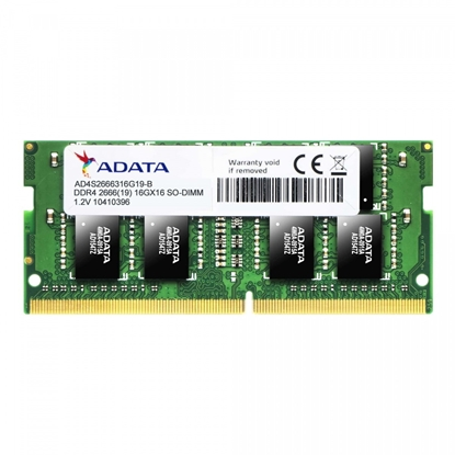 Attēls no ADATA 8 GB, DDR4, 2666  MHz, Notebook, Registered No