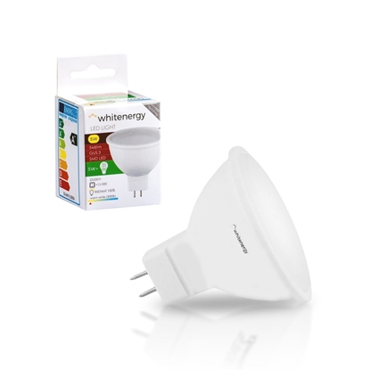 Attēls no Whitenergy LED bulb | GU5.3 | 10 SMD 2835 | 5W | 220-240V | milky | MR16