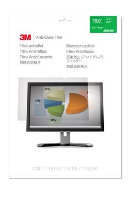 Attēls no 3M AG190W1B Anti-Glare Filter for LCD Widescreen Monitor 19