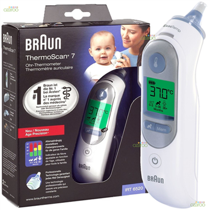 Attēls no Braun ThermoScan® 7 Age Precision Ear Thermometer IRT6520 Memory function, Measurement time 5 s, White