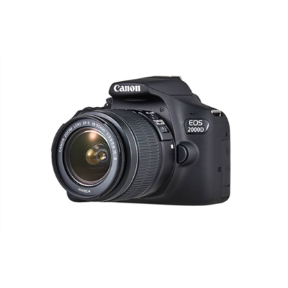 """Picture of Canon EOS 2000D 18-55 III EU26 SLR Camera Kit, Megapixel 24.1 MP, Image stabilizer, ISO 12800, Display diagonal 3.0 """", Wi-Fi, Video recording, APS-C, Black"""