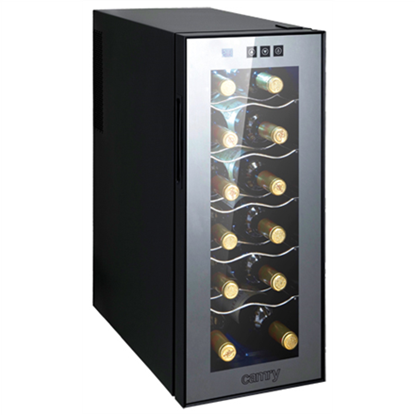 Attēls no Camry Wine Cooler CR 8068 Free standing, Bottles capacity Up to 12 bottles, Black