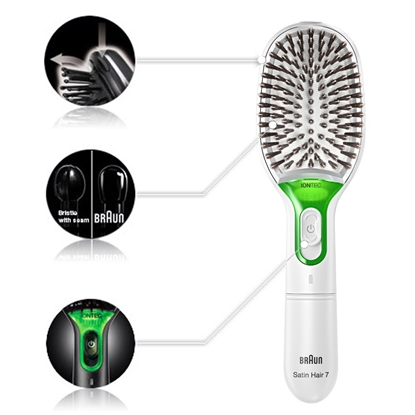 Picture of Braun BR750 Adult Hairbrush & comb Green, White 1 pc(s)