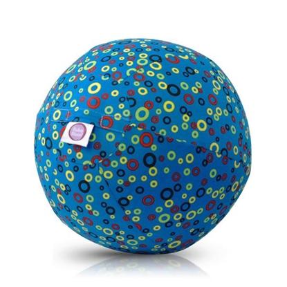 Picture of Akcija! Bubabloon lateksa balons ar auduma pārvalku, Circles Blue