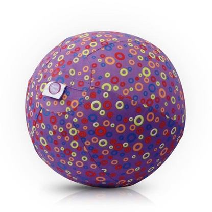 Picture of Akcija! Bubabloon lateksa balons ar auduma pārvalku, Circles Purple