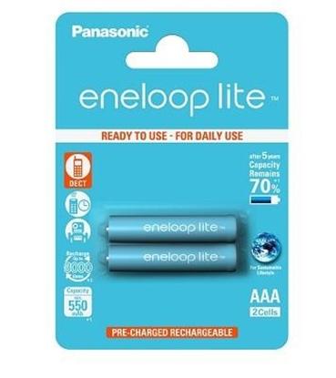 Attēls no Panasonic eneloop AAA/HR03, 550 mAh, Rechargeable Batteries Ni-MH, 2 pc(s)