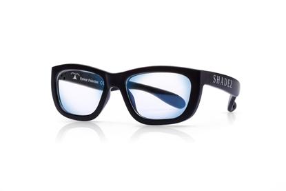 Attēls no Akcija! SHADEZ Blue Light Black Teeny bērnu brilles digitālajām ierīcēm, 7-16 gadi