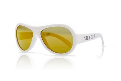 Attēls no Akcija! SHADEZ Classic White Teeny bērnu saulesbrilles, 7-15 gadi