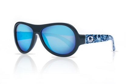 Picture of Akcija! SHADEZ Designer Helicopter Camo Blue Junior bērnu saules brilles, 3-7 gadi