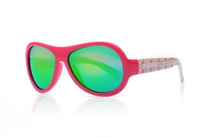 Изображение Akcija! SHADEZ Designer Leaf Print Pink Junior bērnu saulesbrilles, 3-7 gadi