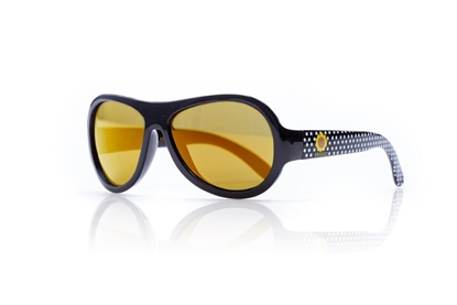 Изображение Akcija! SHADEZ Designer Polka Sunflower Black Junior bērnusaules brilles, 3-7 gadi