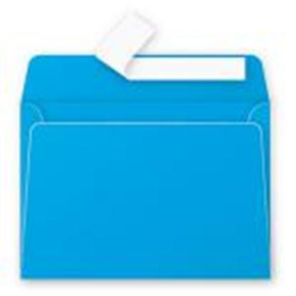 Attēls no Aploksne C6 114x162mm zila krāsa