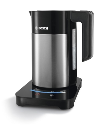 Attēls no Bosch Kettle TWK7203 With electronic control, Stainless steel, Stainless steel/ black, 2200 W, 360° rotational base, 1.7 L