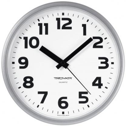 Picture of 91970945 Troyka Sienas pulkstenis TROYKA, ar diametru 24 cm, balts baltā