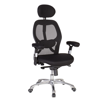Attēls no EVELEKT Biroja krēsls Office4You GAIOLA melns audums, hromēts pamats