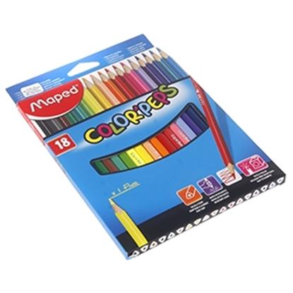 Изображение Krāsu zīmuļi Maped Color`Peps 18-krāsas
